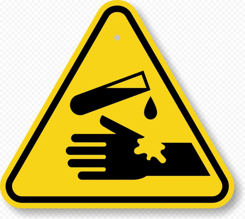 Chemical Hazard Caution Warning Symbol Sign