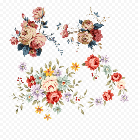 Chinese Flower Clipart Illustration