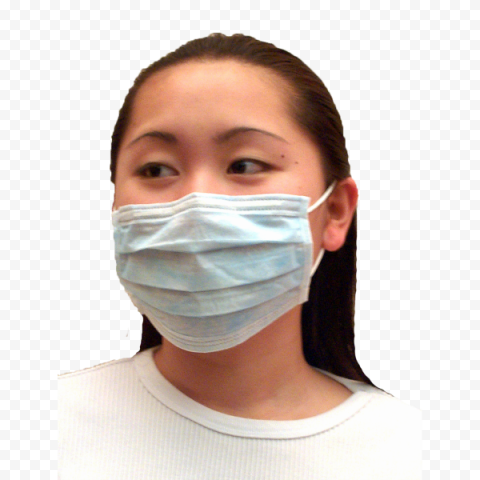 Chinese Woman Wear Surgical Mask Safety
