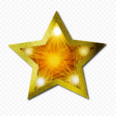 Christmas Gold Star Light Effect Glitter Border