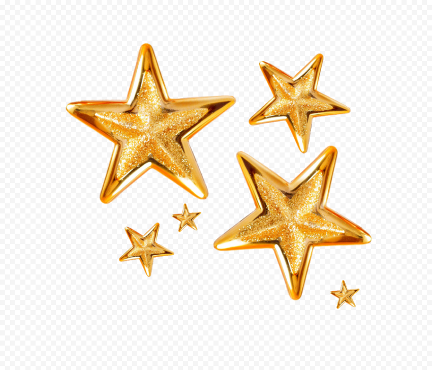 Christmas Gold Stars Thumbnail Effect 3D