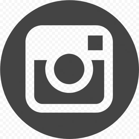 Circle Round Dark Gray Instagram Logo