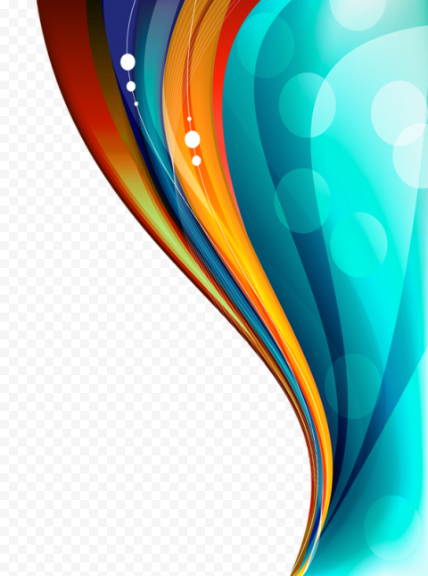 Colorful Curved Lines Creativity Border