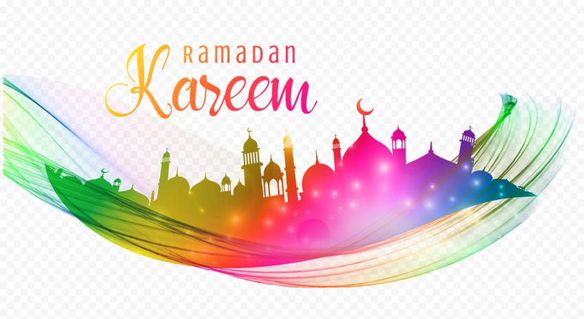 Colorful English Ramadan Kareem Poster Design