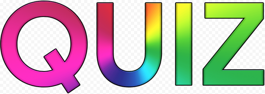 Colorful QUIZ text logo png