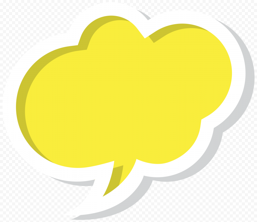 Creative Modern Design Yellow Thought Bubble
