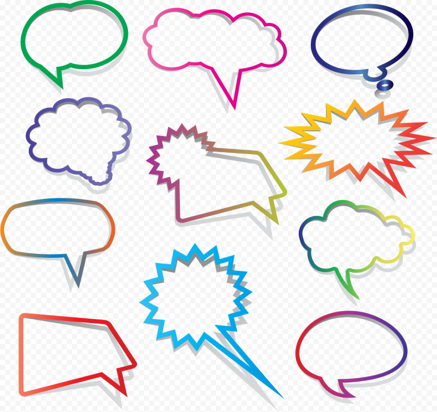 Creative Thought Bubbles Thinking Speech Clipart