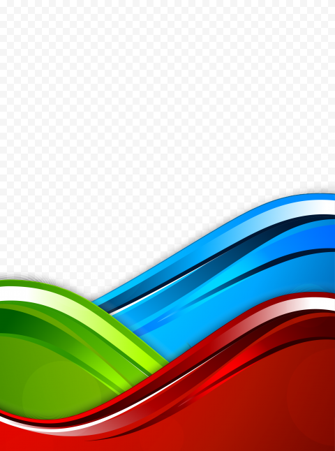 Curve Pattern Blue Red Green Background