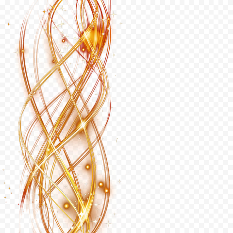 Curved Lines Golden Light Effect Decorated Bar