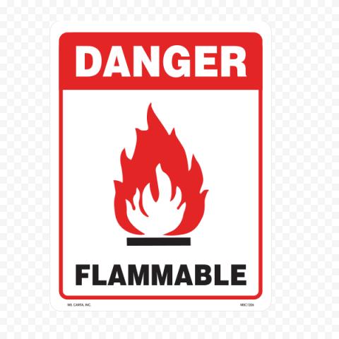 Danger Flammable Sign Warning Caution Risk
