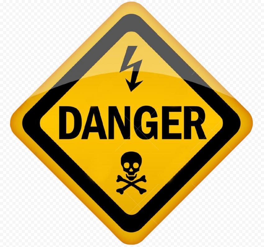 Danger Square Sign Electric Death Risk Warning