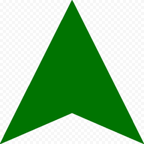 Dark Green Head Arrow To Top