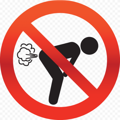 Do Not Fart Sign Symbol