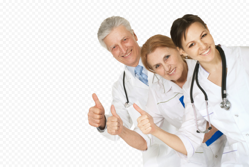Doctors Physicians Nurses Stethoscope Thumbs Up