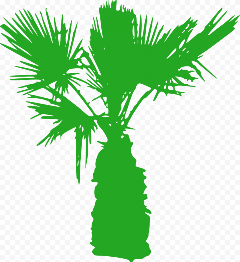 Download Green Mini Palm Tree Silhouette PNG