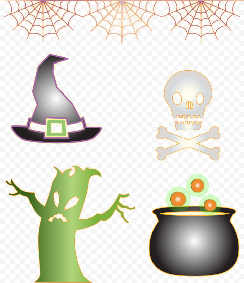 Download Halloween Elements Icons PNG