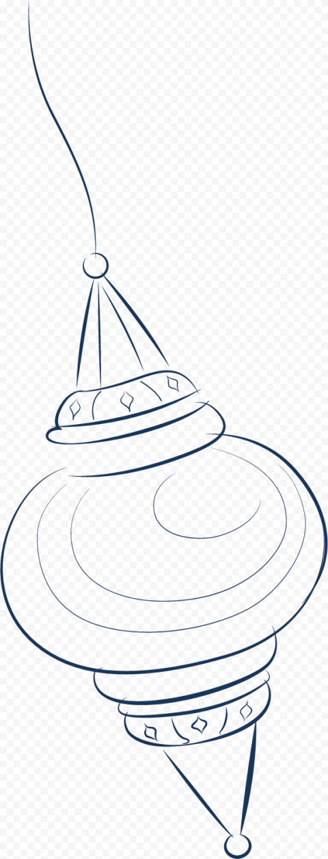 Drawing Outline Ramadan Light Lantern Lamp