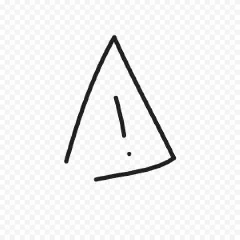 Drawing Triangle Outline Cartoon Black Caution