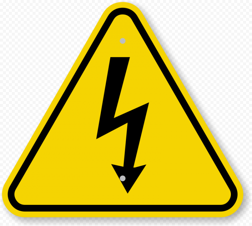 Electricity Electric Electrical Caution Sign