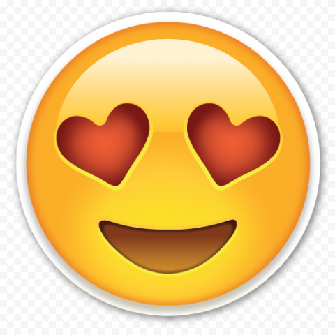 Emoji Face Smiling Heart Eye Red Love Romantic