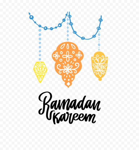 English Ramadan Kareem Poster Lanterns Decoration