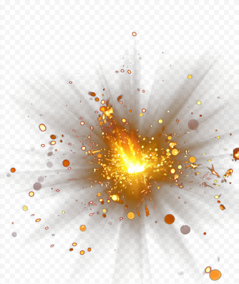 Explosion Collision Gold Effect Illustration Light