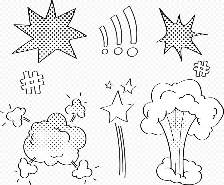 Explosive Explosion Clipart Comic Book Pop Art