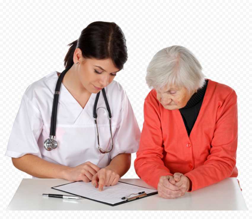 Female Doctor Stethoscope With Patient Hospital