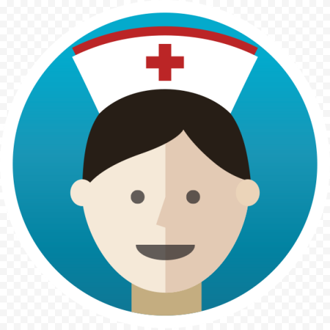 Female Nurse Cartoon Practitioners Round Icon