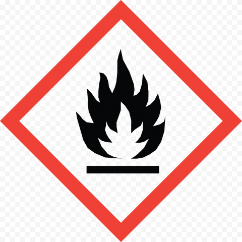 Fire Danger Warning Risk Flammable Safety Sign