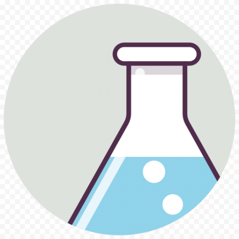 Flask Laboratory Chemistry Erlenmeyer Round Icon