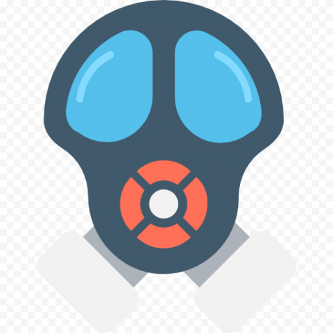Flat Gas Mask Illustration Headgear Icon
