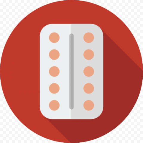 Flat Red Icon Illustration Design Tablets Pills