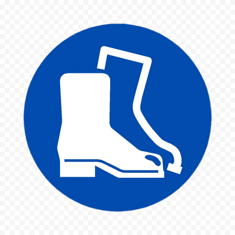 Footwear Sign Blue Icon Symbol Risk Safety