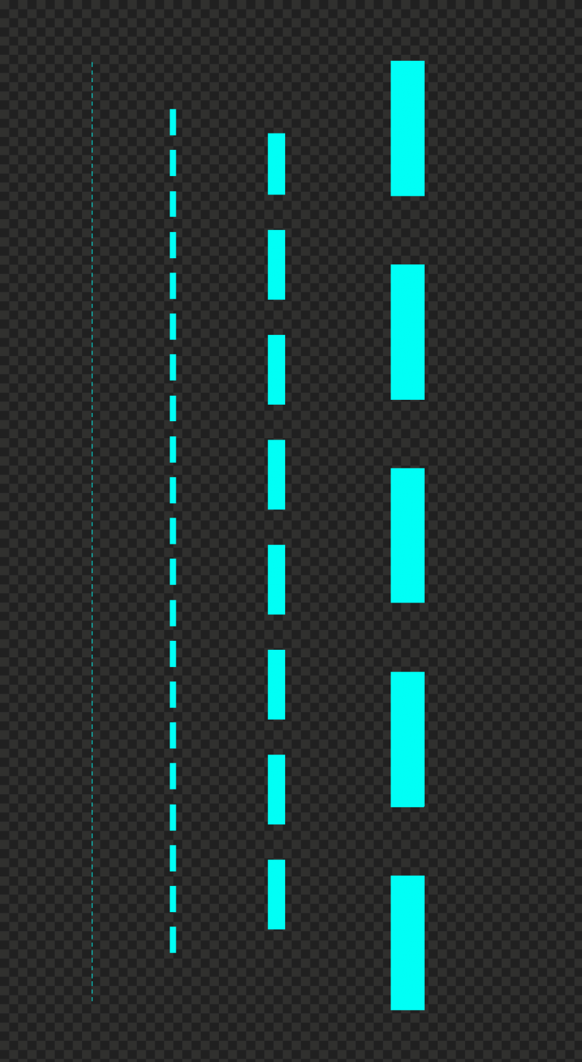 Four Light Blue Dashed Lines PNG Image