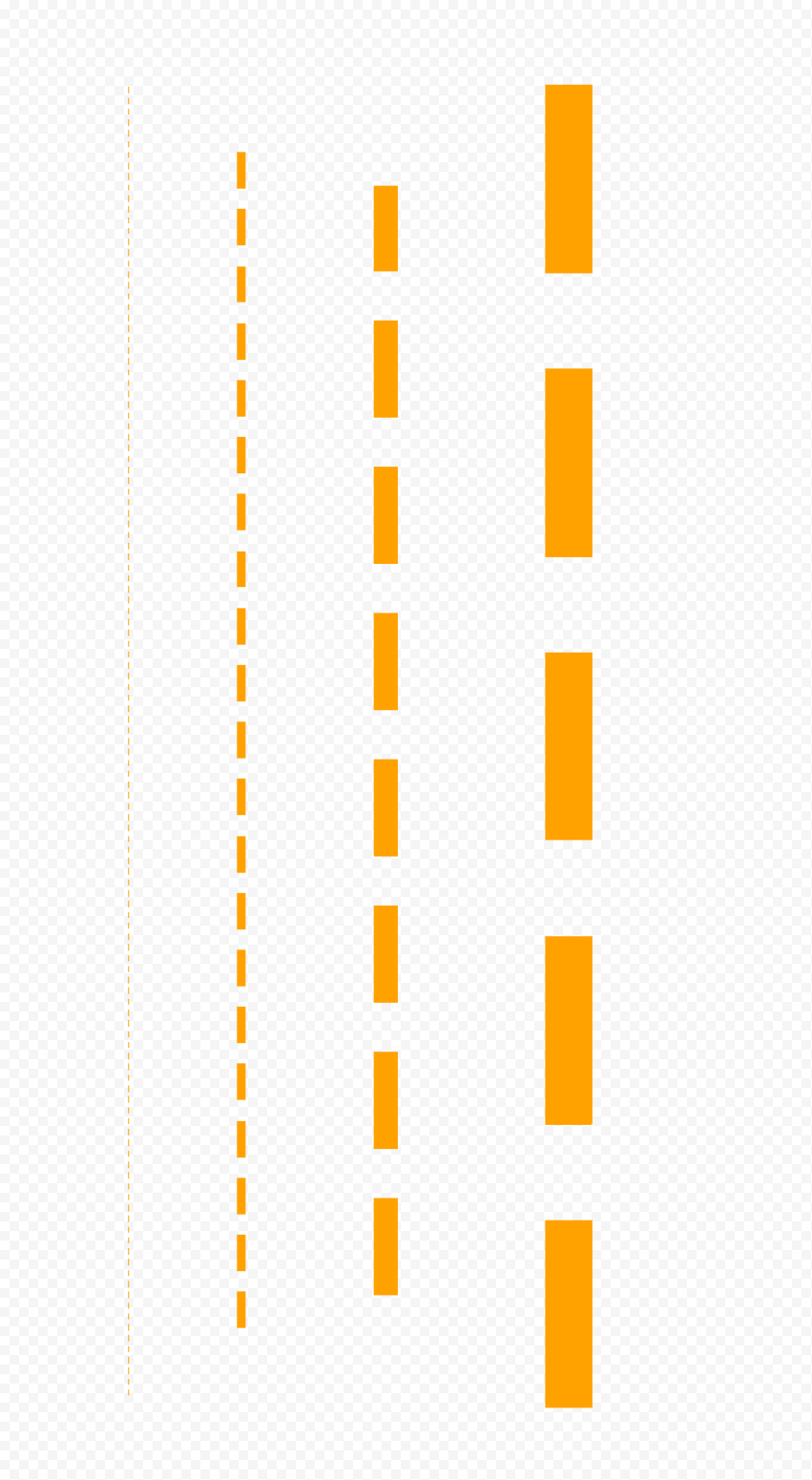 Four Orange Dashed Lines PNG IMG