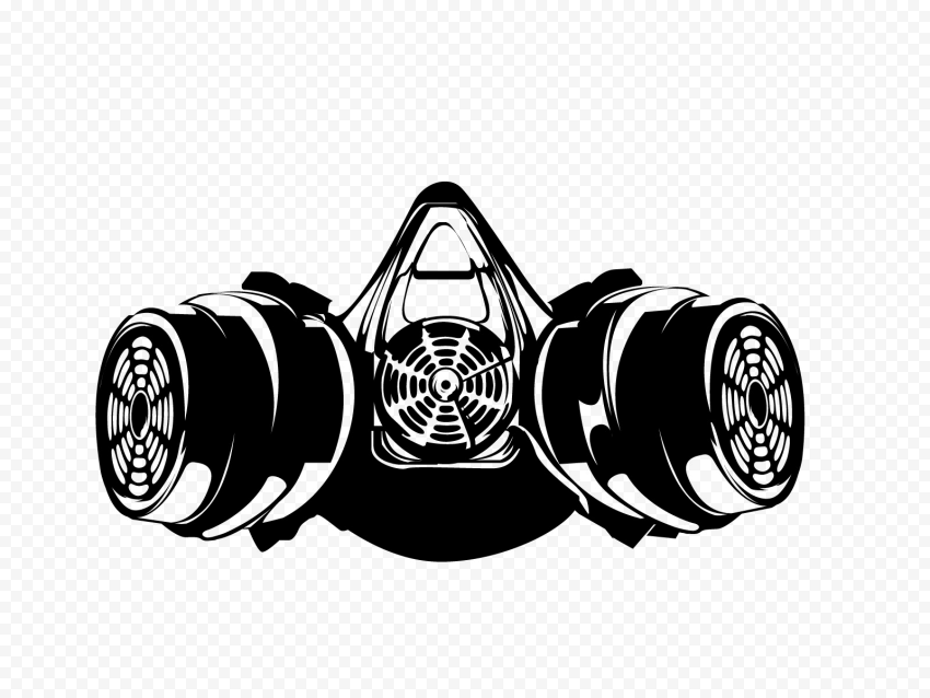 Gas Mask Drawing Silhouette Black Clipart