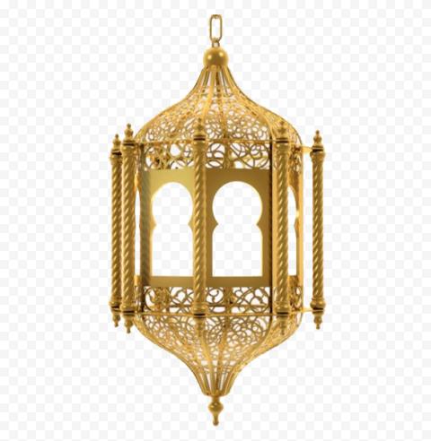 Gold Arabic Ramadan Light Lantern Lamp