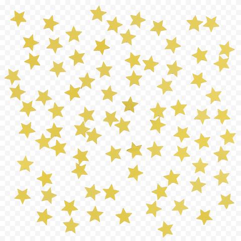Gold Star Sticker Pattern Yellow