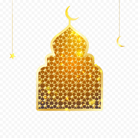 Golden Gold Ramadan Chancery Mosque Illustration