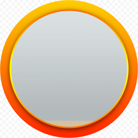 Gradient orange circle border label badge png