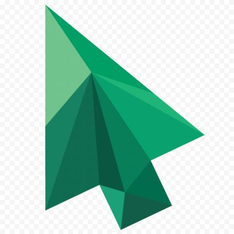 Green Cursor Arrow Abstract Texture