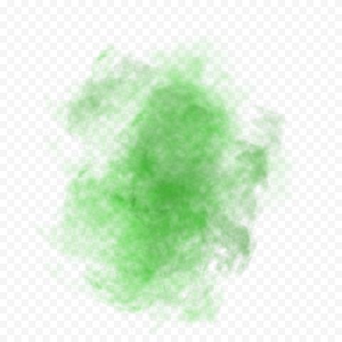 Green Smoke Effect Transparent Background