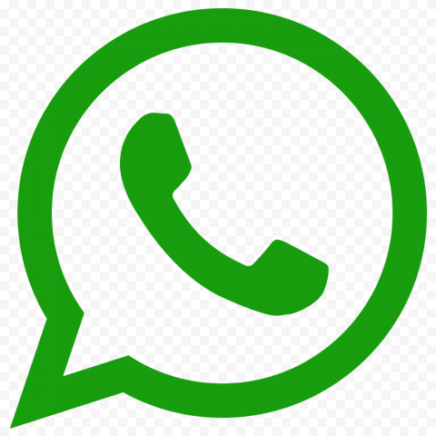 Green WhatsApp Logo Phone Call Icon
