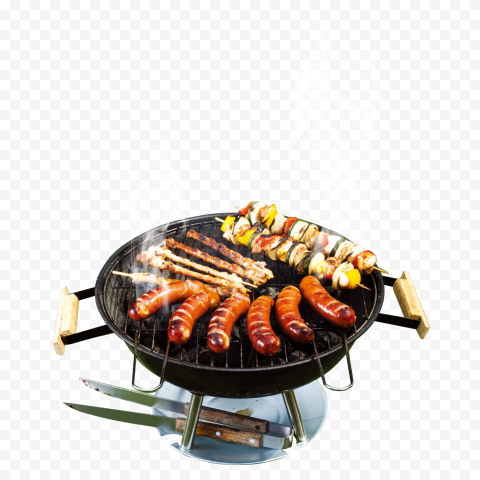 Grilled Barbecue Charcoal Grill PNG