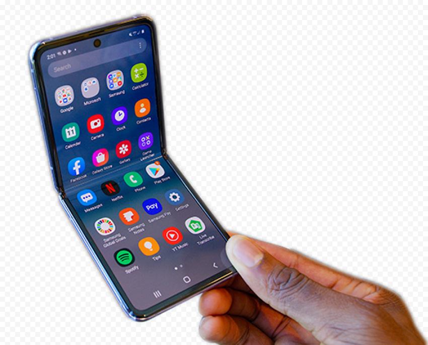 Hand Smartphone Samsung Galaxy Z Flip