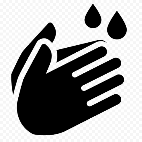 Hand Washing Icon Clean Hygiene Black Symbol Icon