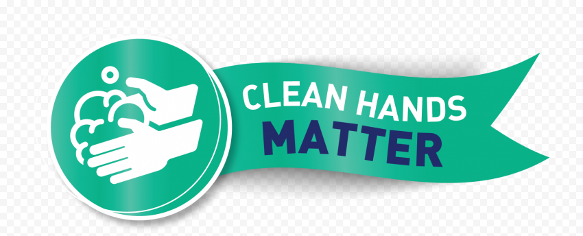 Hands Washing Badge Label Clean Hygiene