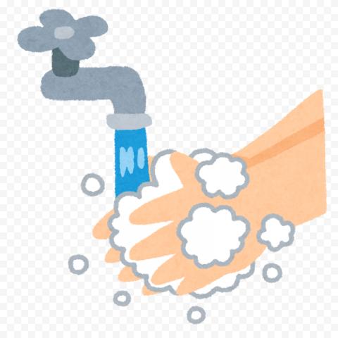 Hands Washing Cartoon Clean Water Canvas