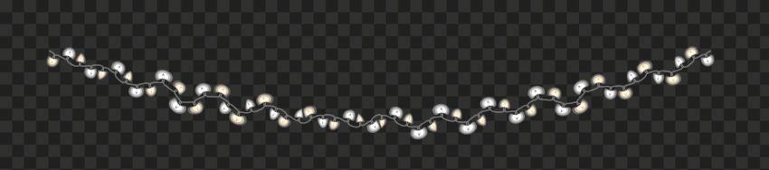 Hanging Decorative Light Bulbs String PNG